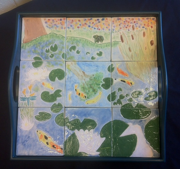Lily Pond Tile Mural